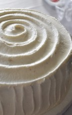 Spiral buttercream frosting