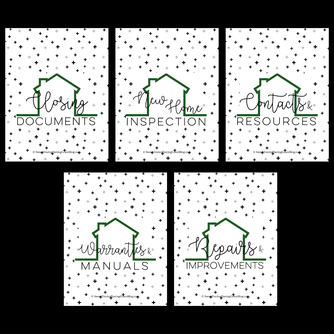 New Home Binder Printables