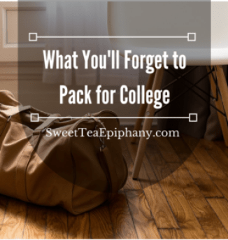 forget to pack for college