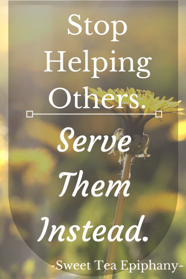 Stop Helping Others.
