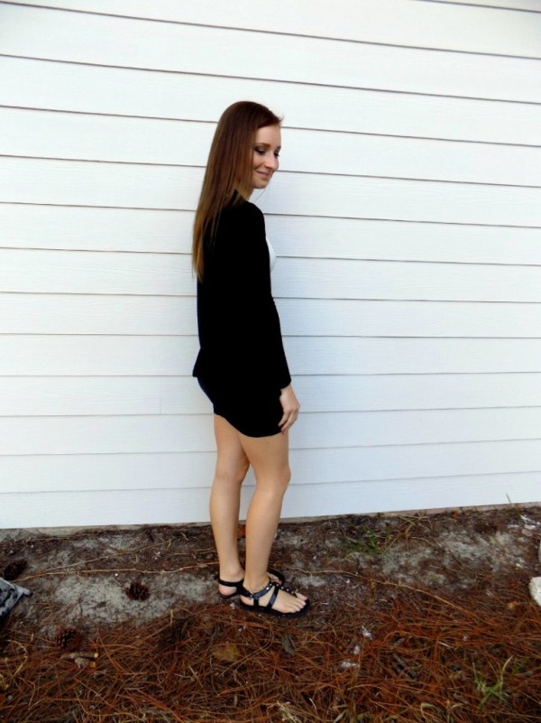 black and white outfit ootd style