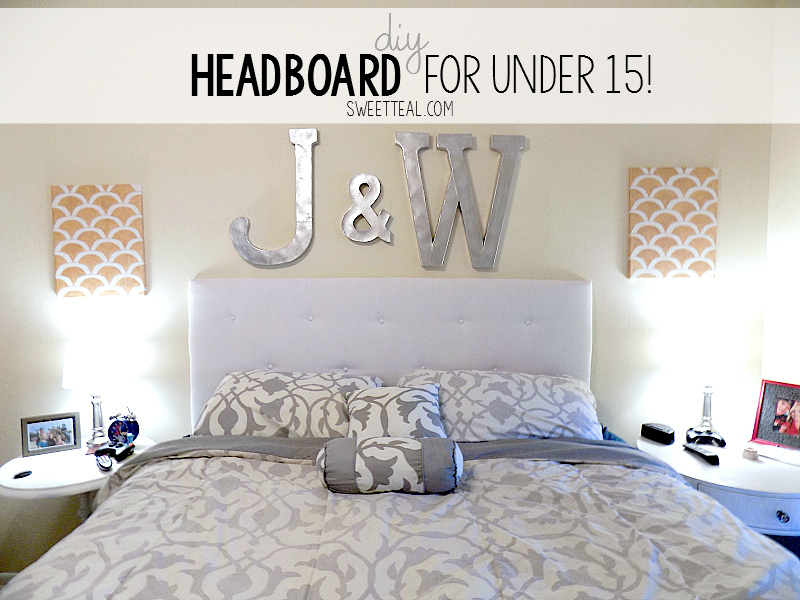 DIY Tufted Headboard For Under 15 from Sweet Teal by Jenny Bess