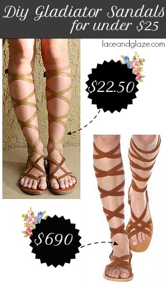 diy gladiator sandals for under $25