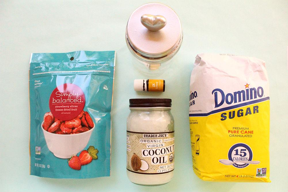 Valentine's Sugar Scrub - Strawberry & Lemon
