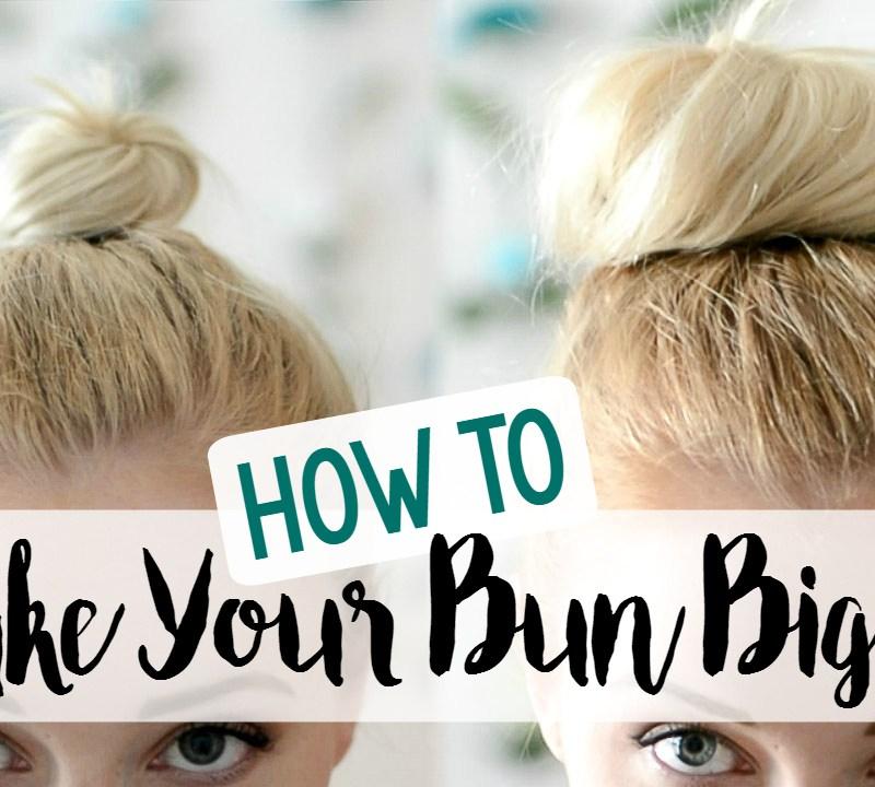 how to make your bun bigger hair tutorial