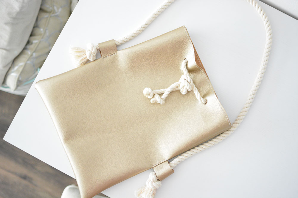DIY Purse Rope Handle Fold Over Style