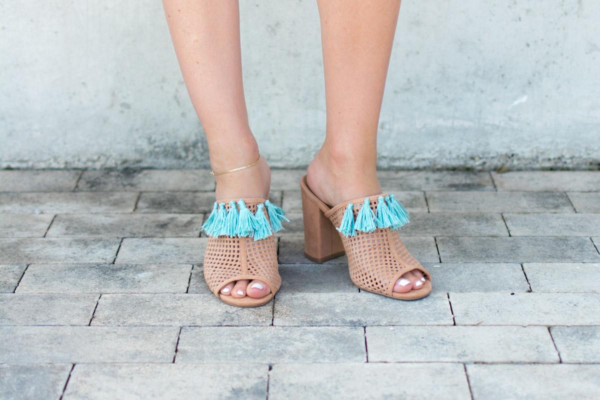 DIY tassel shoes by Jenny of Sweet Teal
