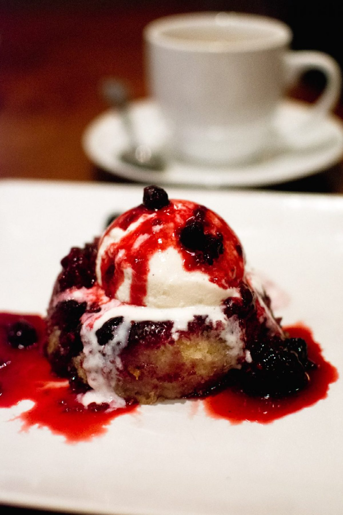 BRAVO Warm Berry Cake & Coffee summertime menu