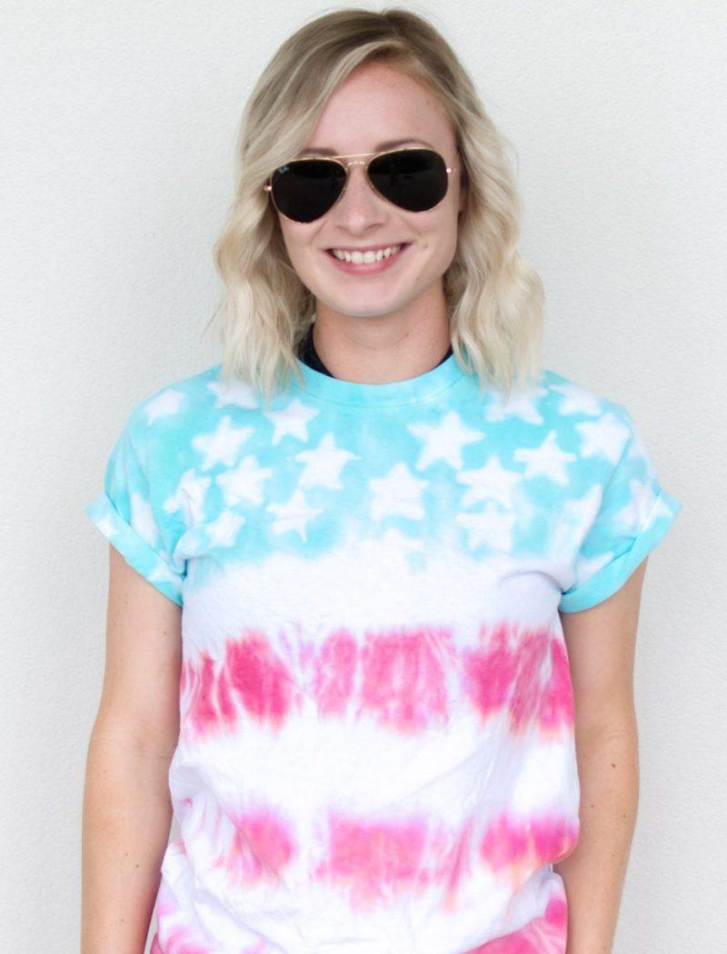 DIY American Flag Tie Dye Shirt by Jenny Bess of Sweet Teal