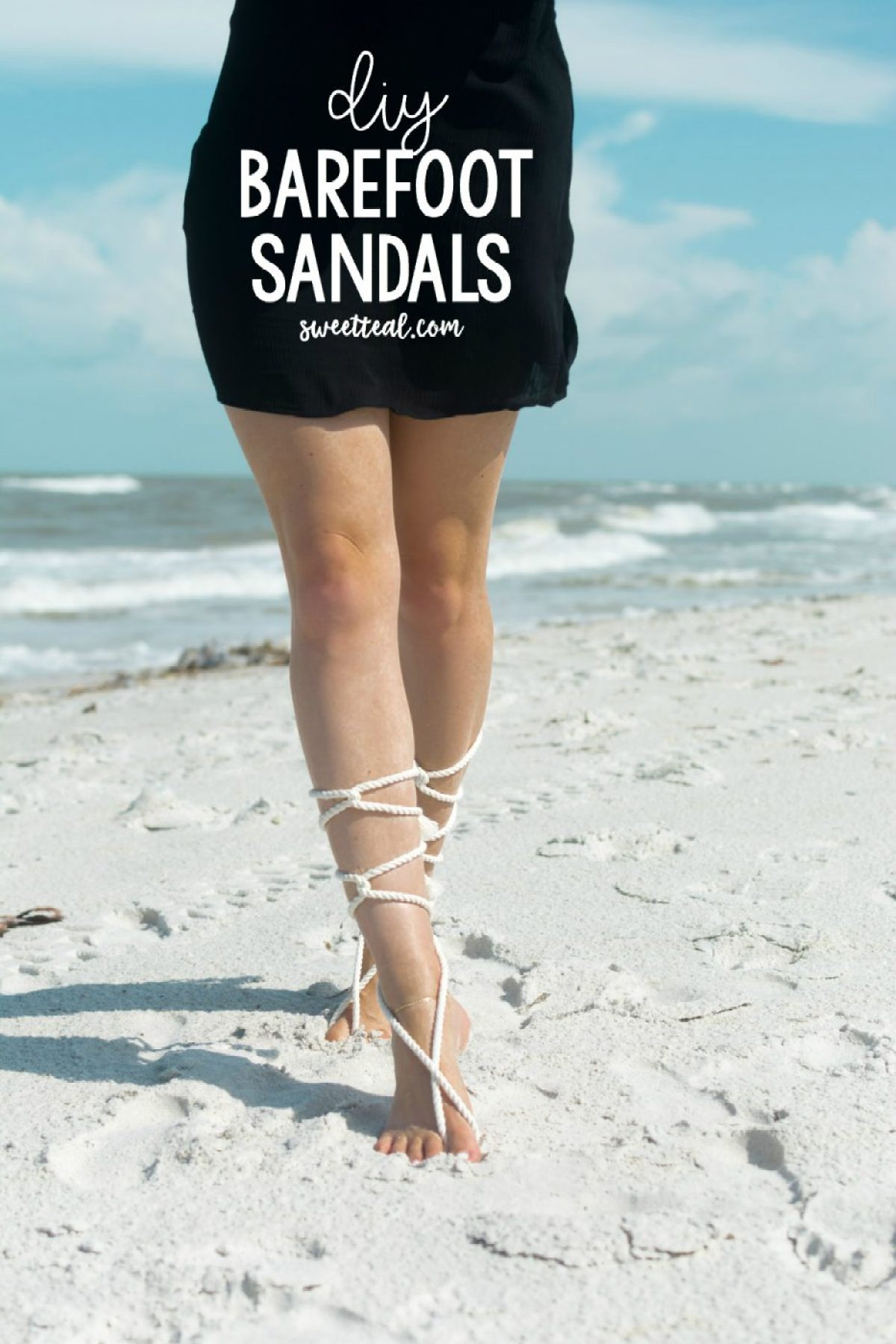 Make these DIY barefoot sandals with the tutorial from Sweet Teal