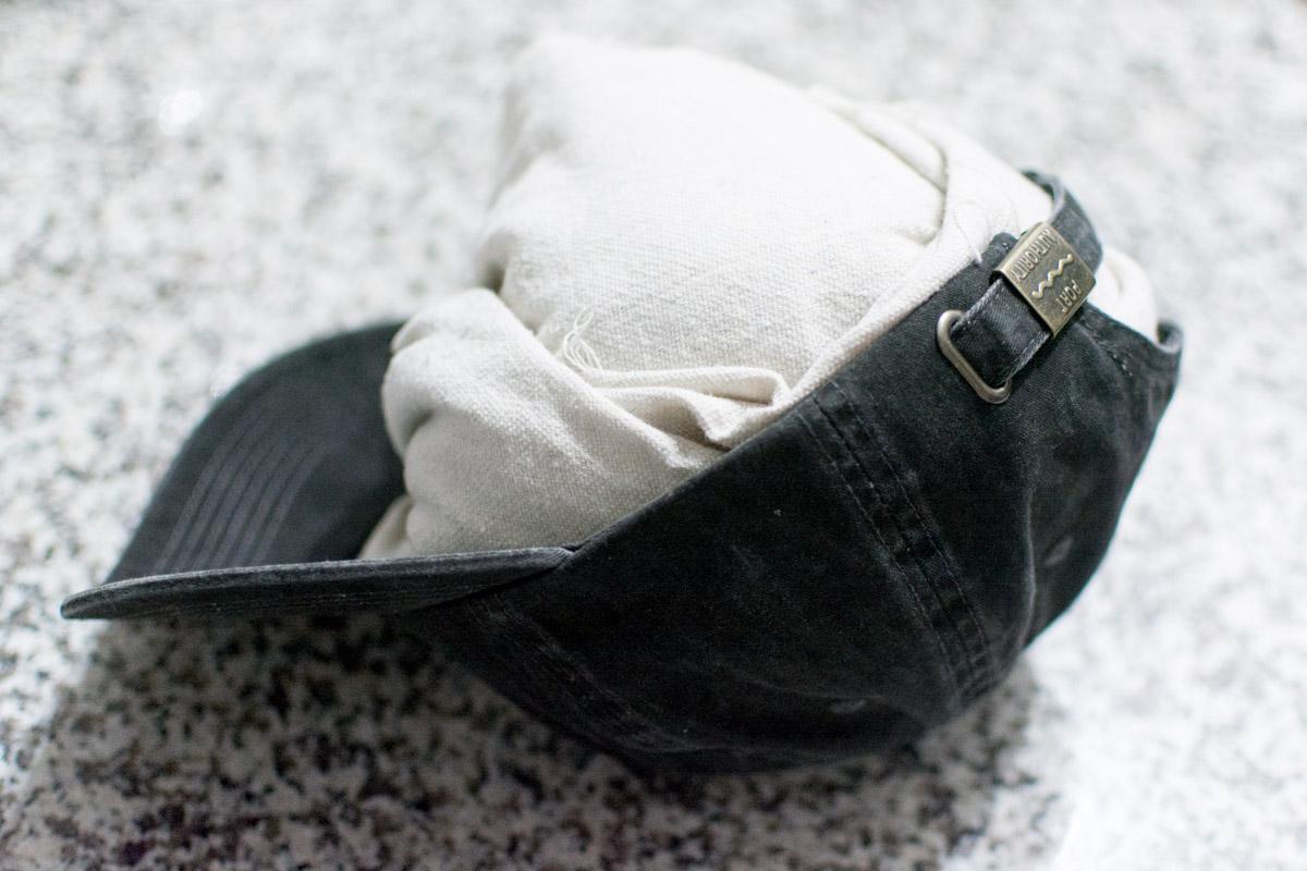 DIY Baseball Cap Shark Decal - towel in hat - Sweet Teal