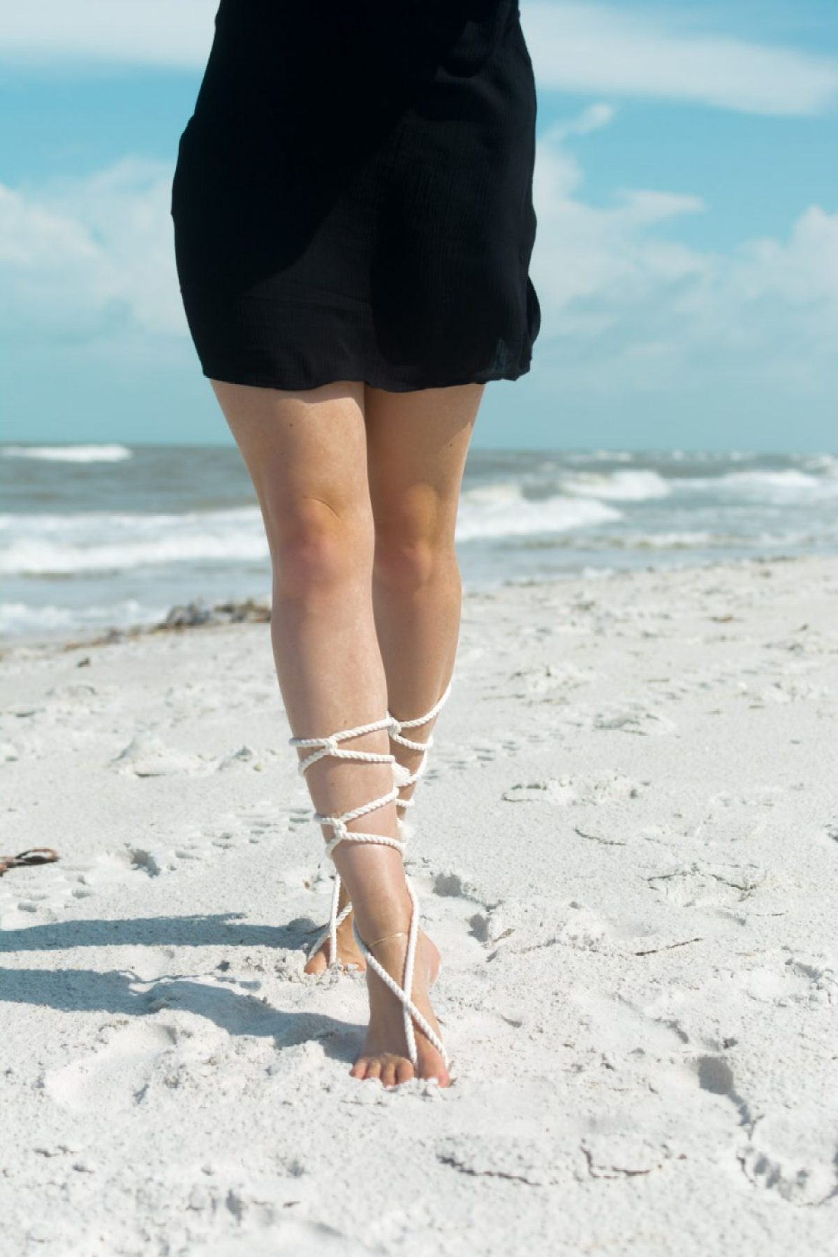 Rope Barefoot Sandals by Jenny Bess of Sweet Teal