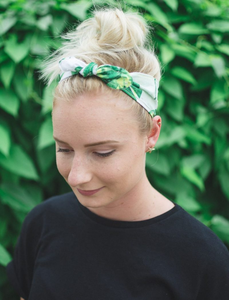 Palm Print Headband - Sweet Teal