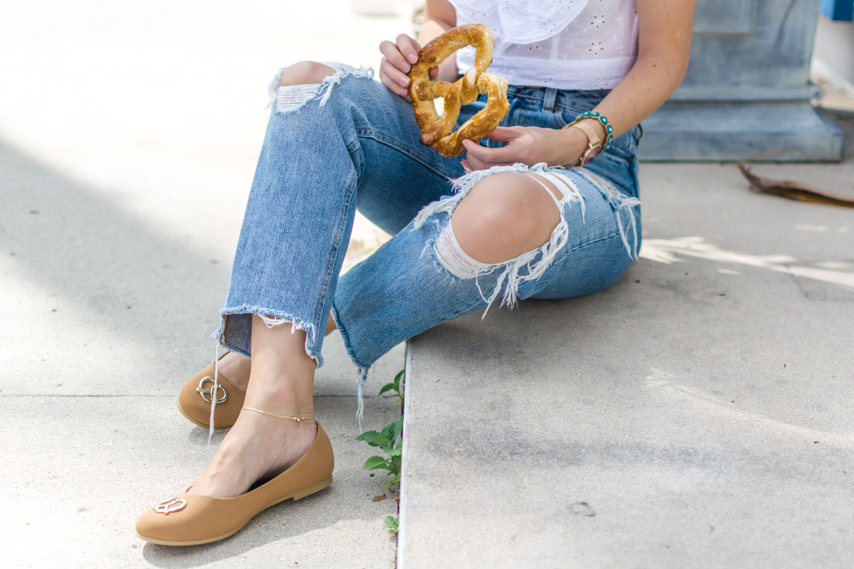 Loly in the Sky Pretzel Shoes - Sweet Teal