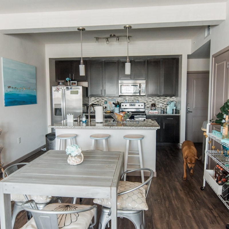 Apartment Tour - Dining Room & Kitchen - Sweet Teal
