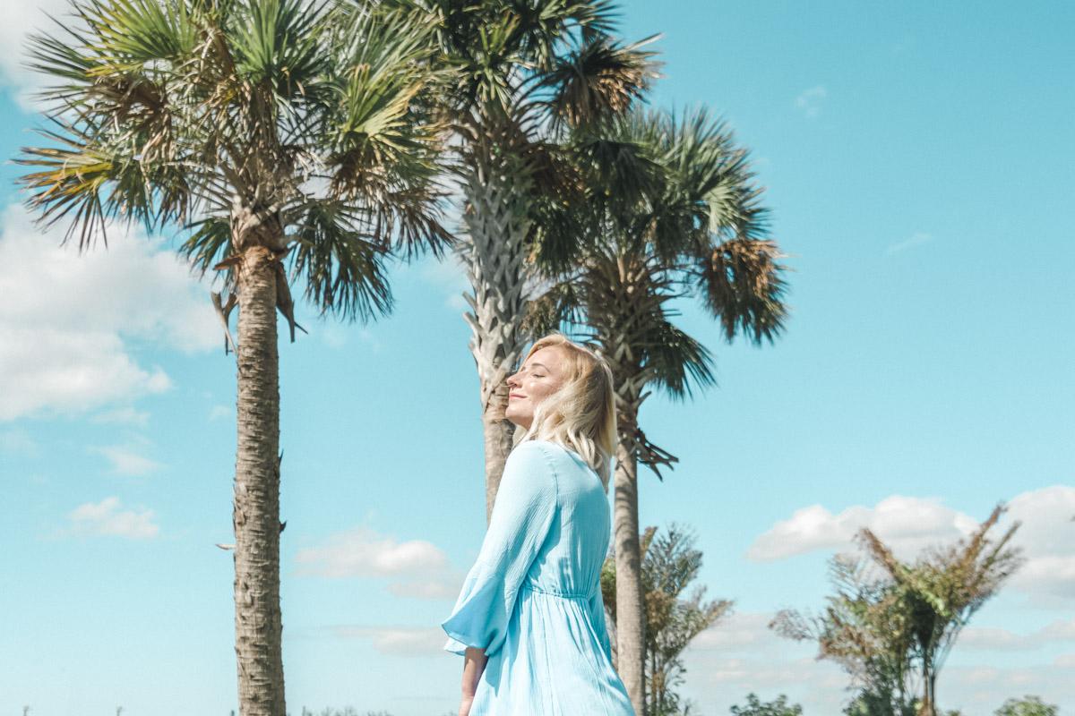 Bell Sleeve Blue Dress - Sweet Teal