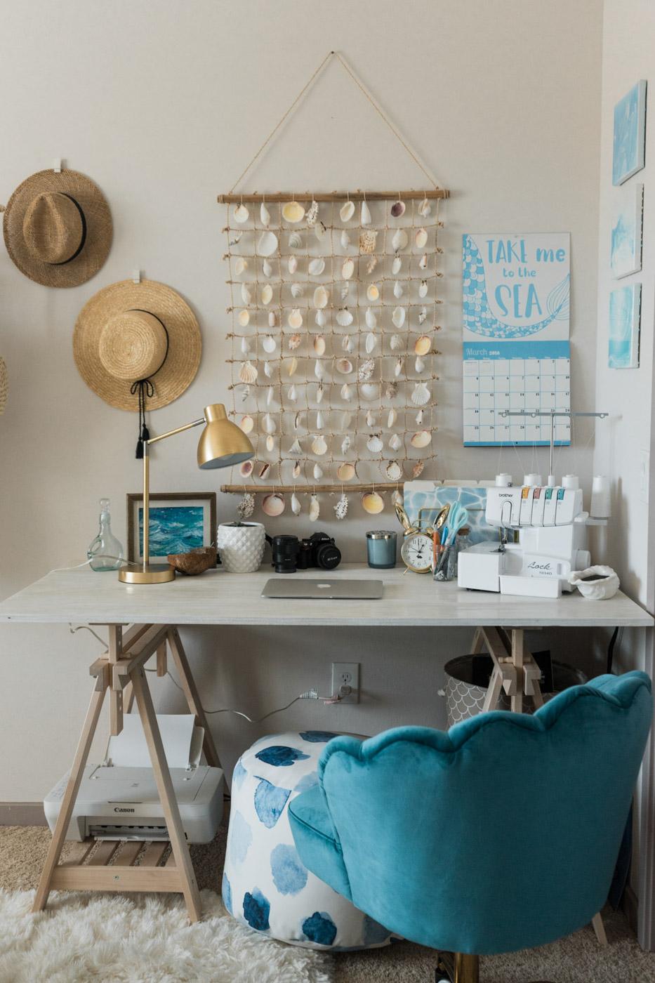 Beachy Boho Office details 2 - Sweet Teal