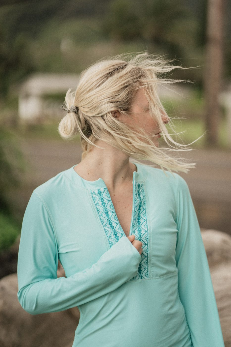 Cabana Life Blue Shirt Dress - Sweet Teal