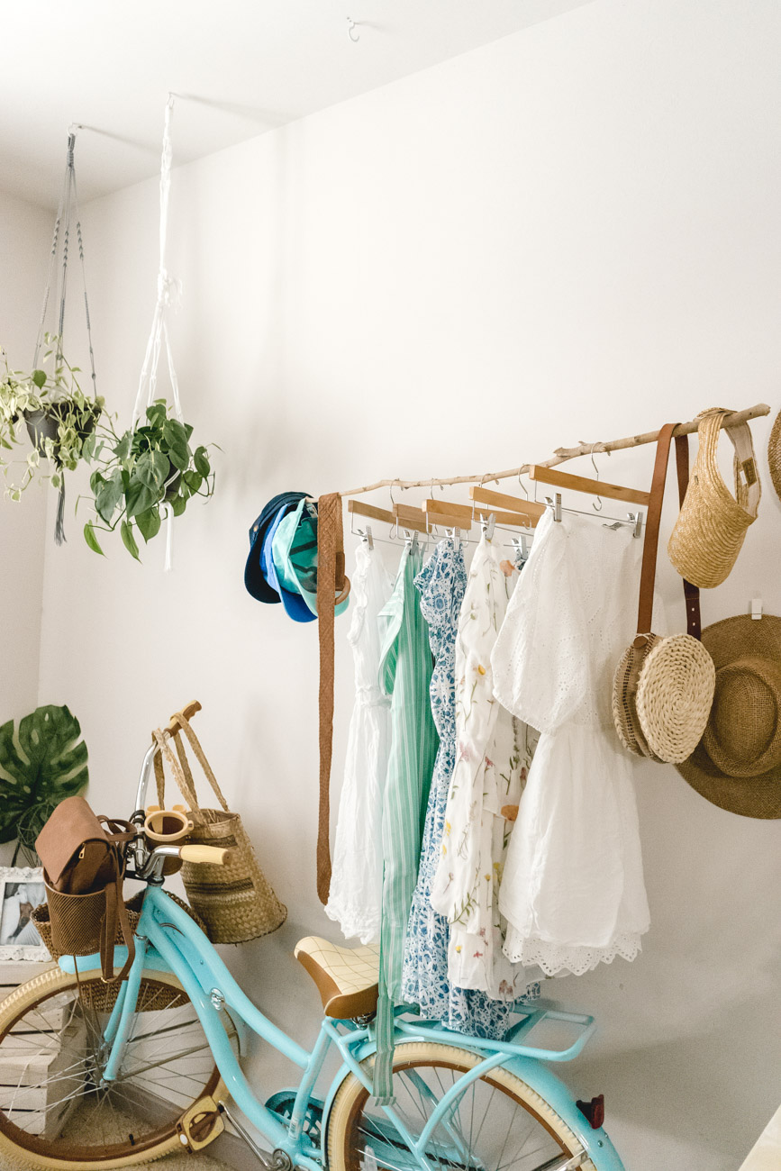 DIY Floating Clothing Rack - Sweet Teal