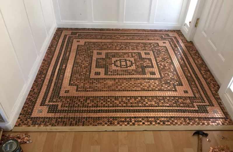 Penny Floor - Make Your Home Look Like A Million Bucks