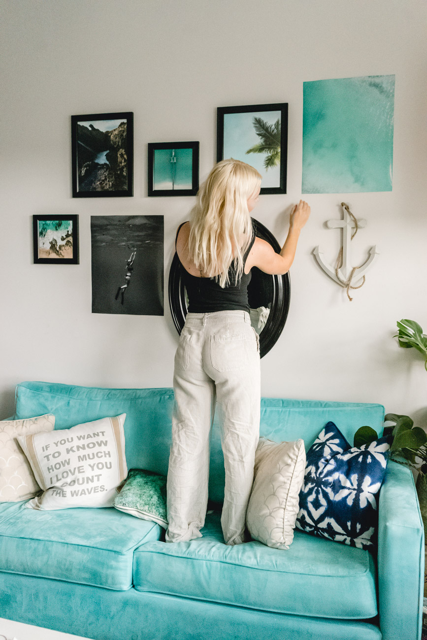 Gallery Wall Tips - Sweet Teal by Jenny Bess