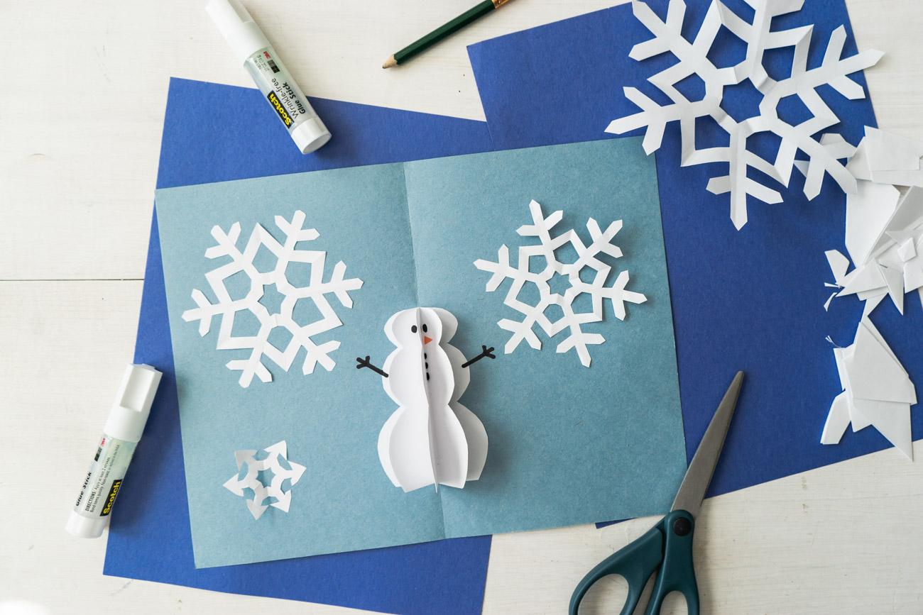 diy pop up christmas cards 2 ways  tree card  snowman card