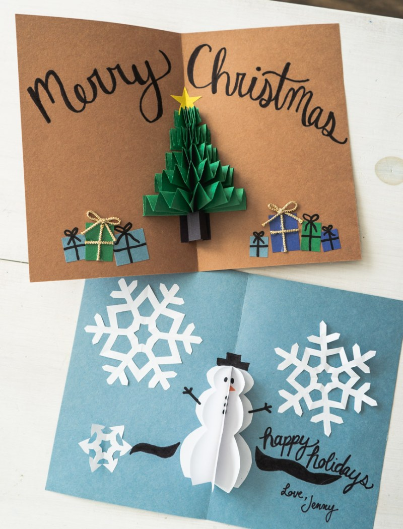 DIY Pop Up Christmas Cards - by Jenny Bess of Sweet Teal
