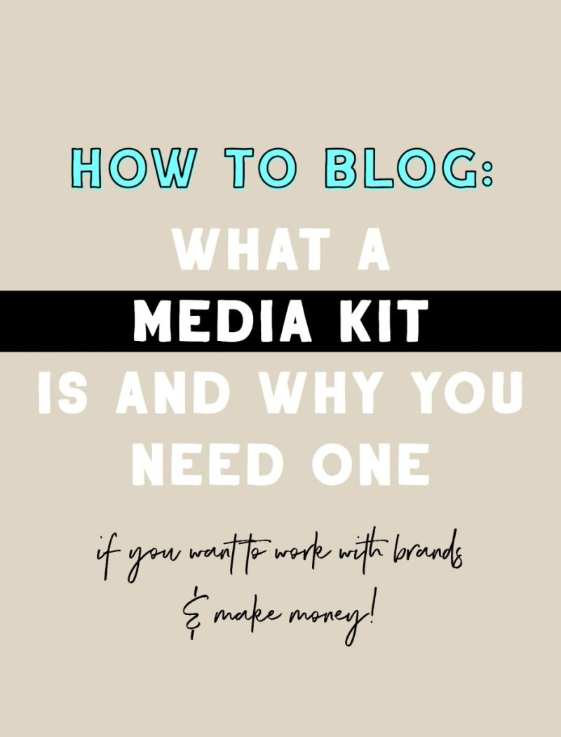 How To Blog - What A Media Kit Is