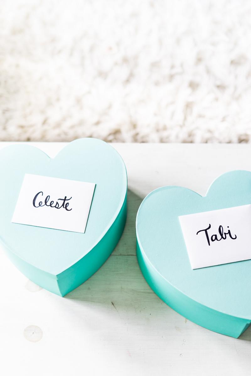 DIY Bridesmaid & Maid of Honor Boxes - Sweet Teal