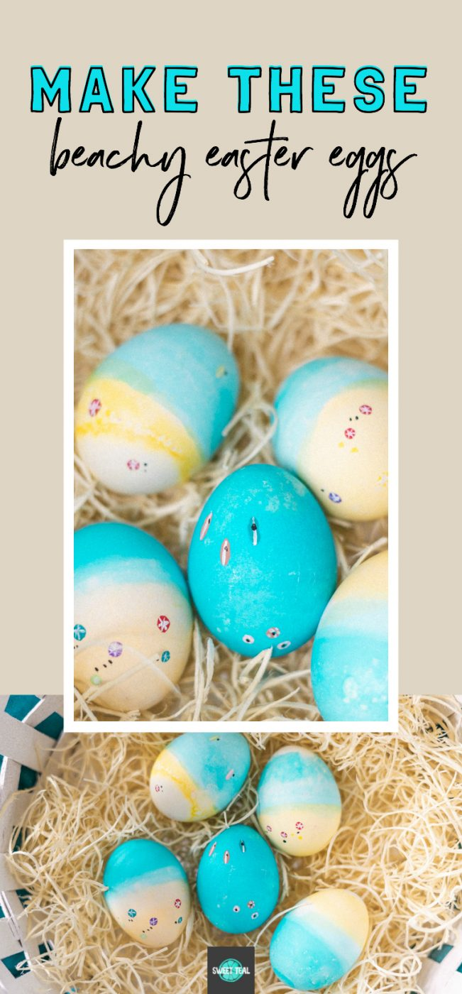 DIY Beach Easter Eggs - Sweet Teal
