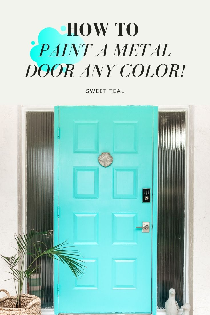 How To Paint a Metal Door Any Color! Easily paint your metal door with these tips.