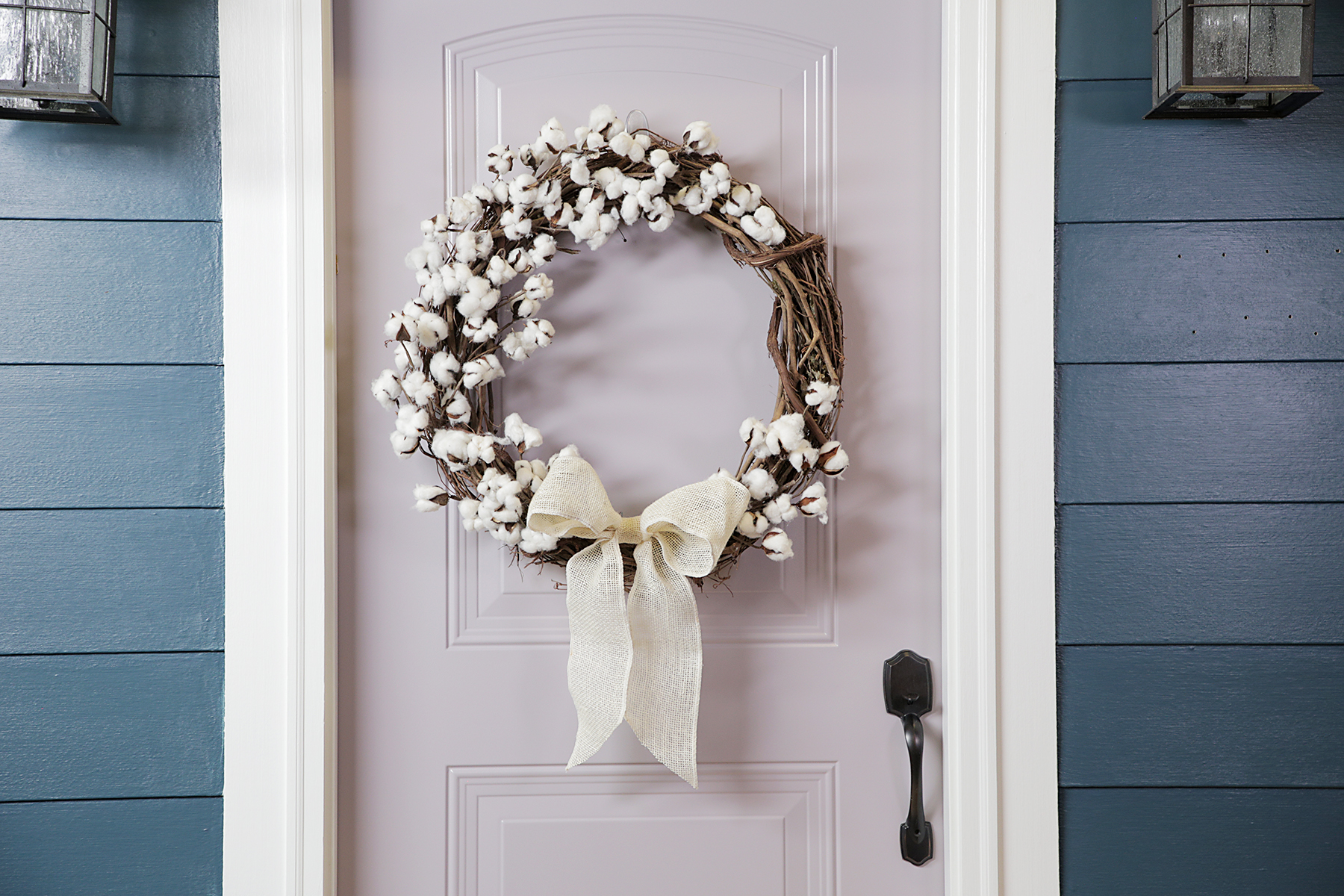 Fall cotton wreath from ideas for fall wreaths on Sweet Teal