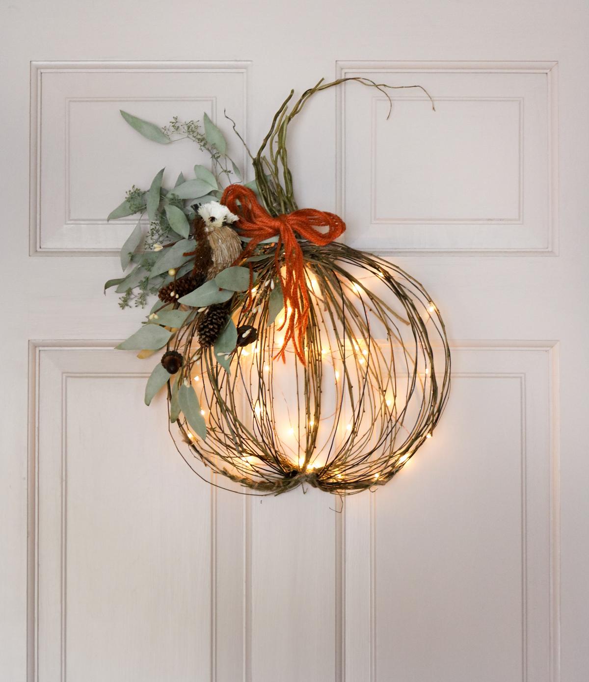 Pumpkin fall wreath idea