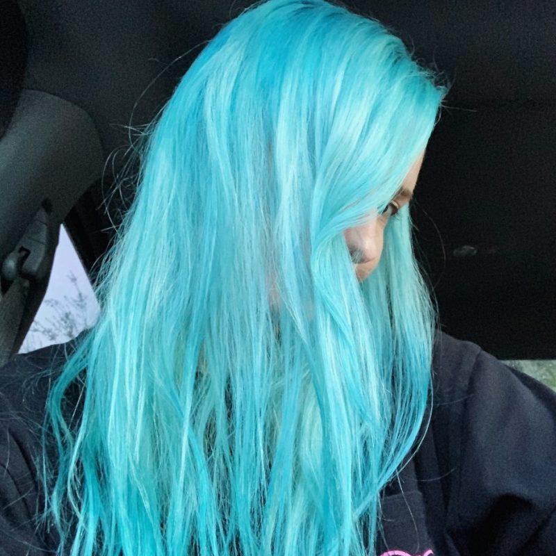 fade blue hair