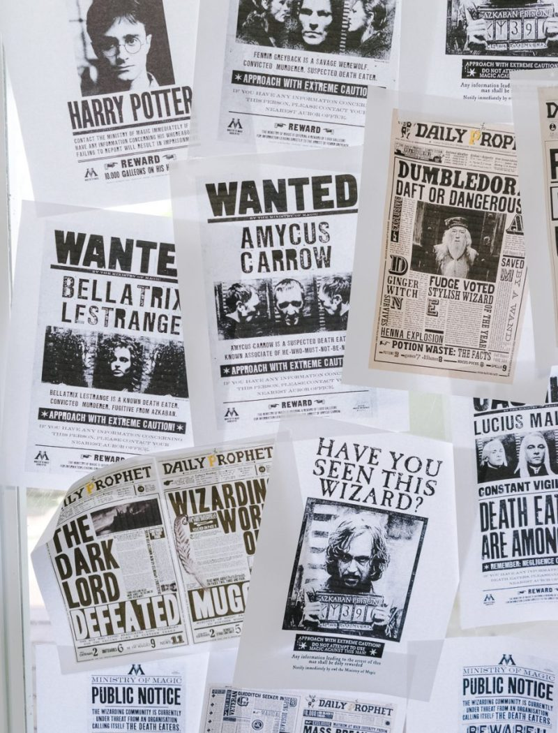 Harry Potter wanted posters
