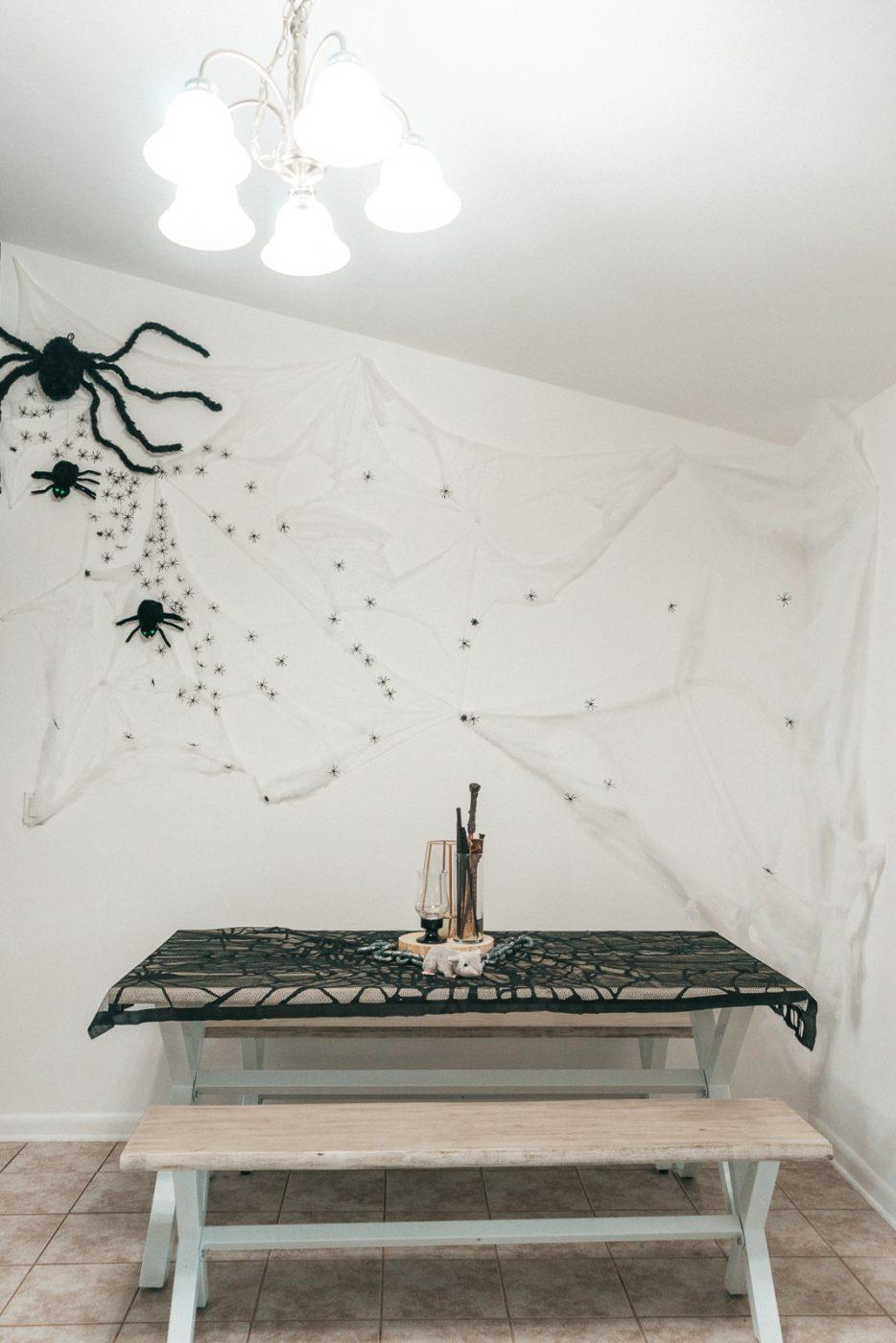 Halloween spider wall