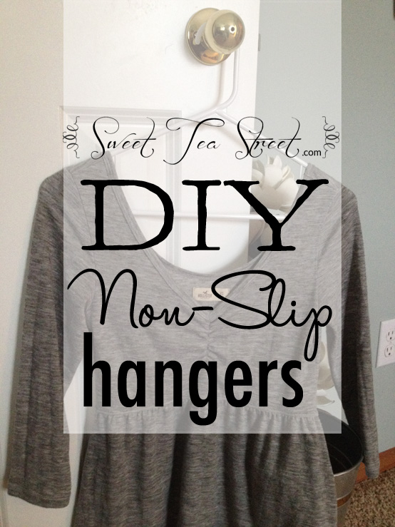 DIY non-slip hangers