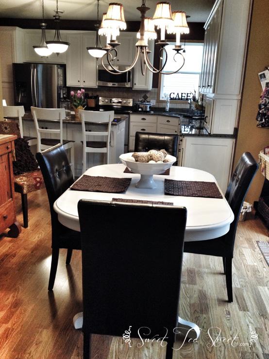 kitchen table white