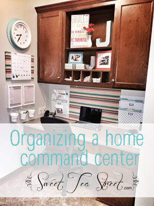 Organizing a home command center