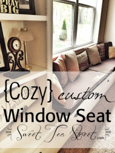 cozy custom window seat