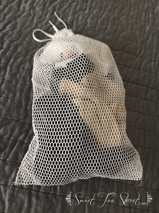 mesh laundry bag cures lost socks