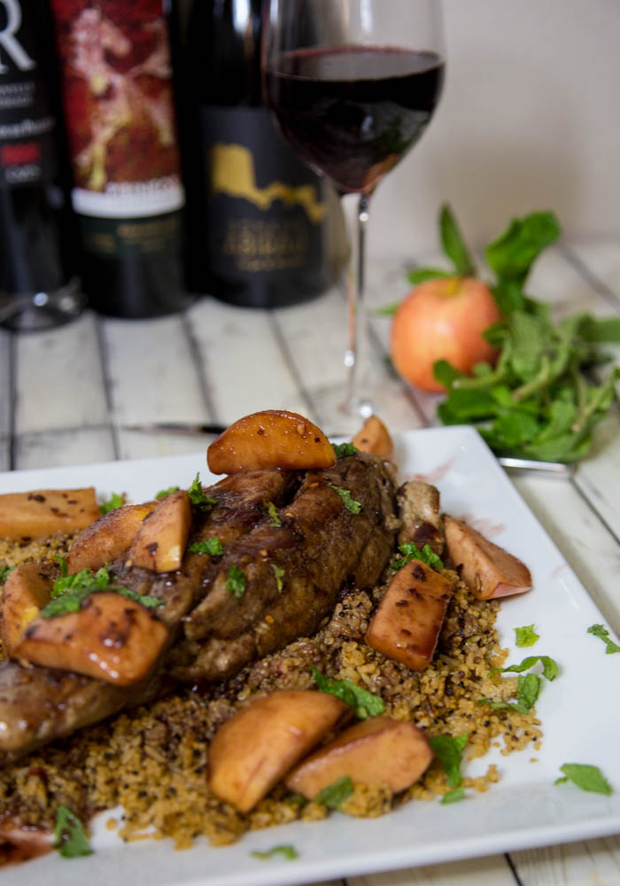Apple & Garnacha Wine Sauce over Pork Tenderloin | www.sweetteasweetie.com