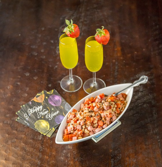 "Black Eyed Peas Paired with a ""Hangover Mimosa"" - Champagne with Vitamin Water"