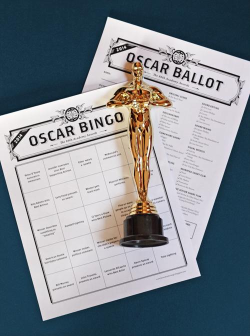 Oscar Bingo | www.sweetteasweetie.com