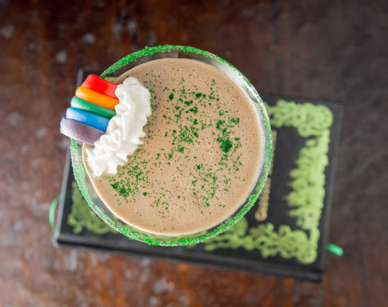 End of the Rainbow St. Patrick's Day Shake | www.sweetteasweetie.com