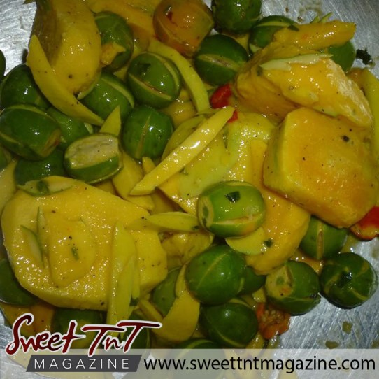 Mango and plum chow. Down memory lane to Granville Beach in sweet T&T for Sweet TnT Magazine, Culturama Publishing Company, for news in Trinidad, in Port of Spain, Trinidad and Tobago, with positive how to photography.