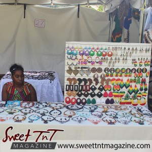 Lifestyle - Jewelry vendor at Parang Festival in Lopinot.