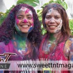 Mary and Sarah after jouvert, people in sweet T&T for Sweet TnT Magazine, Culturama Publishing Company, for news in Trinidad, in Port of Spain, Trinidad and Tobago, with positive how to photography.