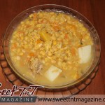 Split peas soup in glass bowl in sweet T&T for Sweet TnT Magazine in Trinidad and Tobago for Food section
