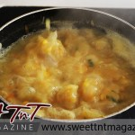 Split peas soup bubbling in pot in sweet T&T for Sweet TnT Magazine in Trinidad and Tobago for Food section